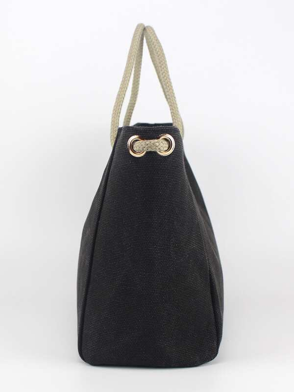 2a6c4d799 Oversized Canvas Tote Bag | SHEIN UK