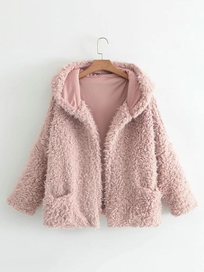 Faux Fur Short Hooded Coat