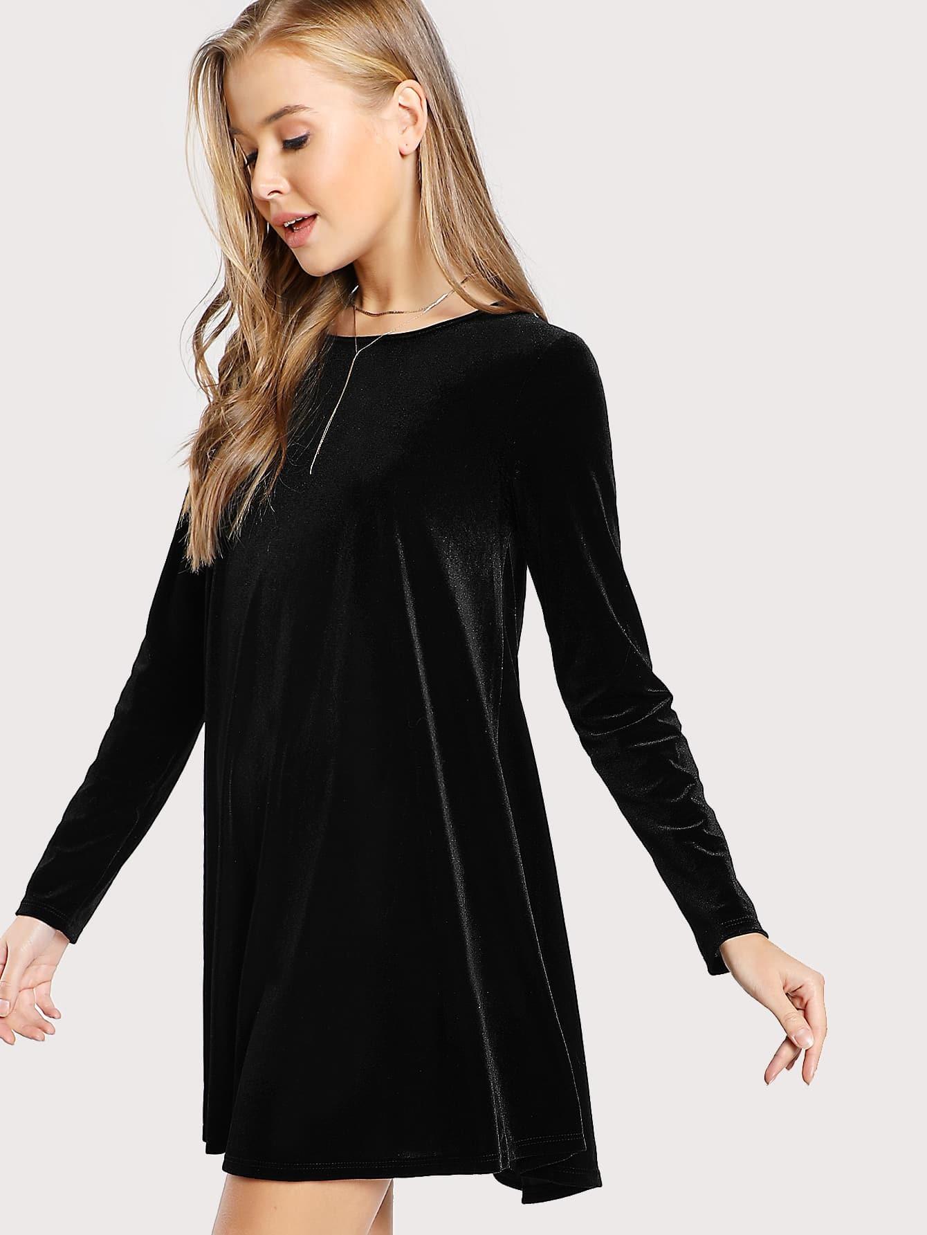 86217dfbf5 Cheap Long Sleeve Velvet Swing Dress for sale Australia | SHEIN