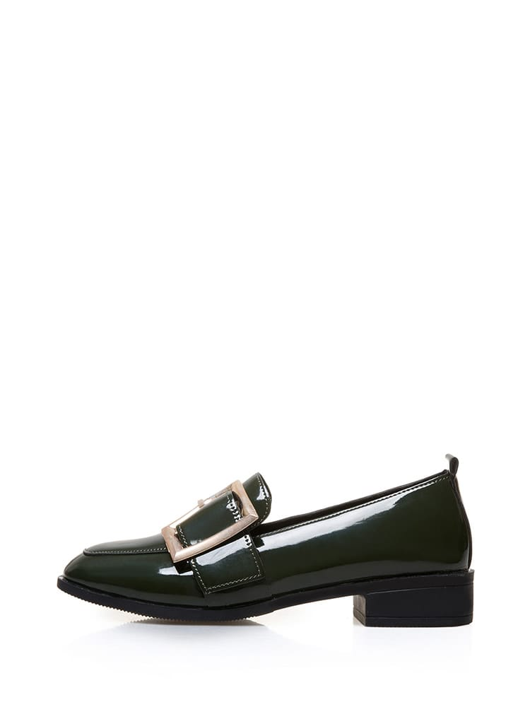 f2bd2ced4c2 Oversized Buckle Heeled Loafer EmmaCloth-Women Fast Fashion Online