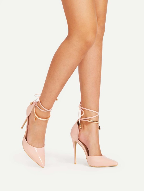 7645d99d5e67 Stiletto Lace Up Pointed Toe Heels