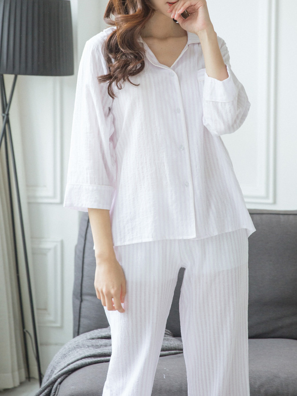 7982f2e21 Cheap Vertical Striped Shirt   Pants Pj Set for sale Australia