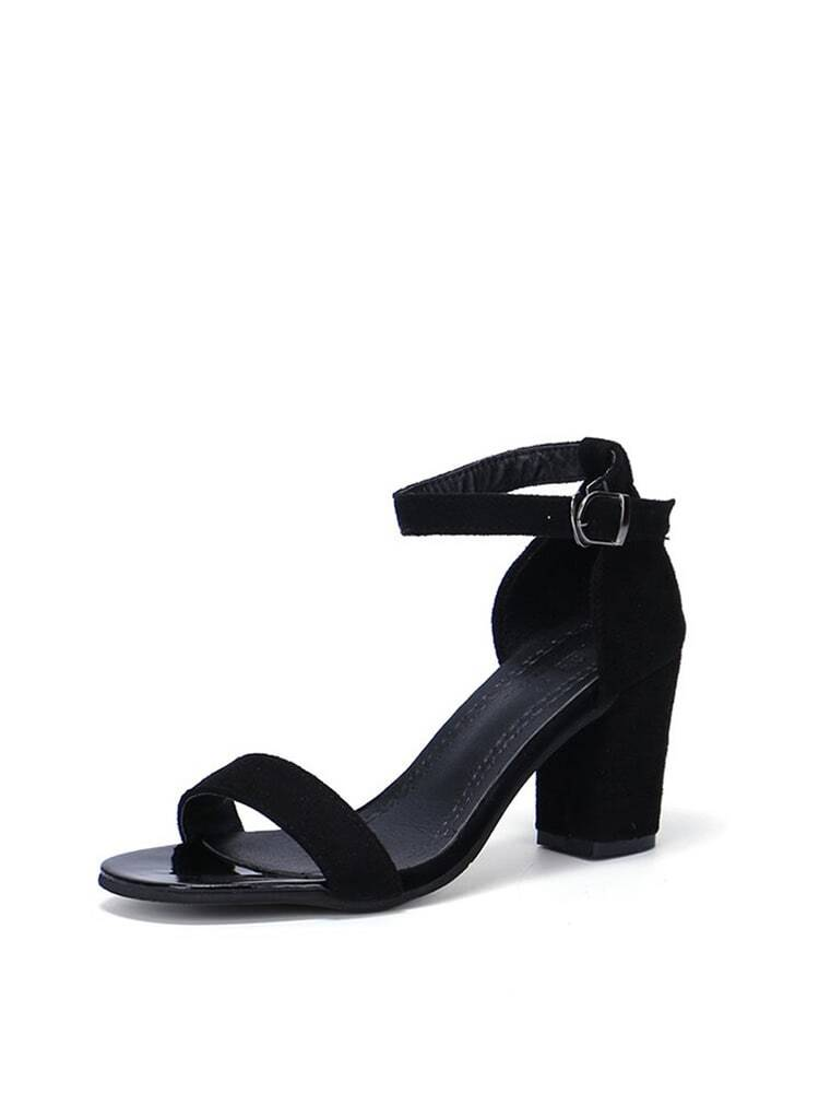 020f7242e368 Two Part Block Heeled Sandals