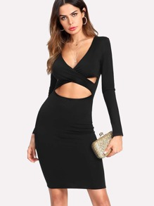 Cut Out Crisscross Front Dress