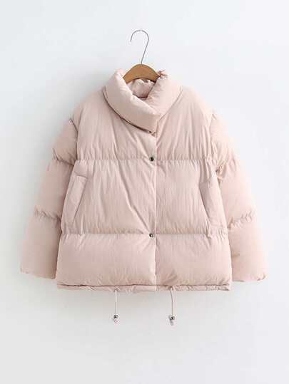 Stand Collar Padded Coat