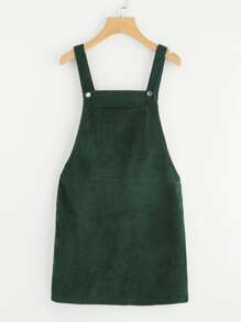 Bib Pocket Front Overall Dress