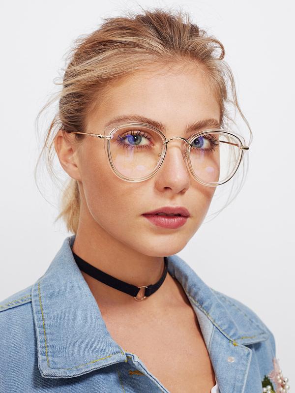 013f39d1cd145 Clear Frame Cat Eye Glasses