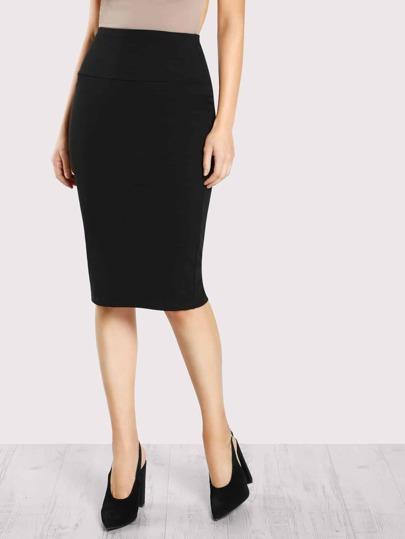 e408dcd6d3 Elastic Waist Pencil Skirt