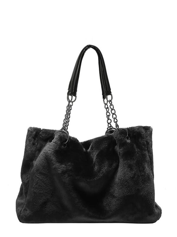 10298ce75e Faux Fur Chain Shoulder Bag