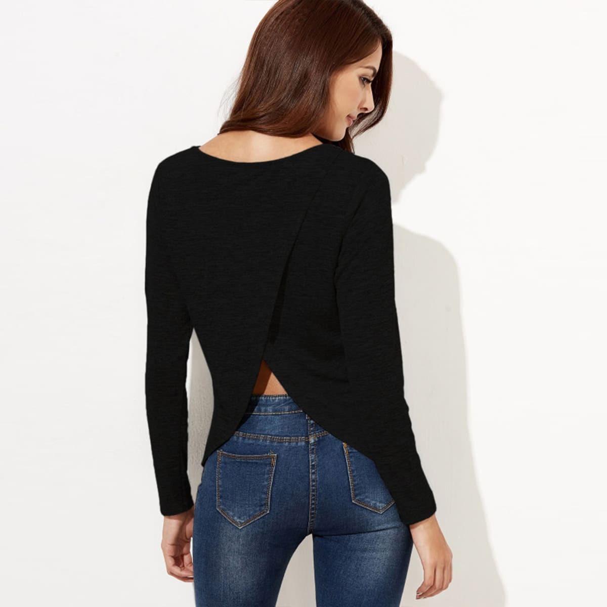T-Shirt mit Überlagerung hinten