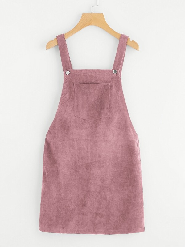 5f744ae7cb7 Pocket Front Overall Corduroy Dress