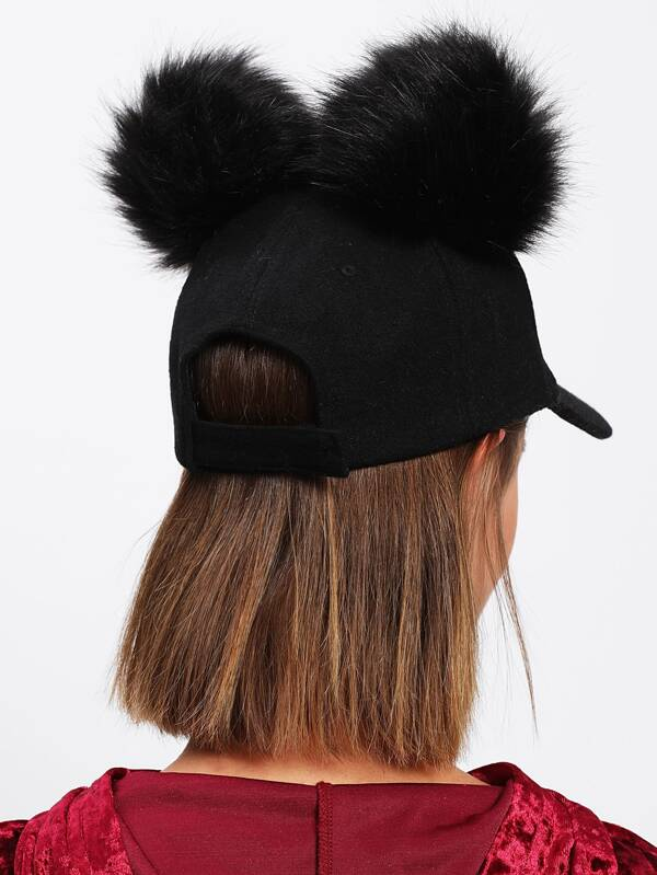5dbcd0c60f0 Pom Pom Ear Baseball Hat
