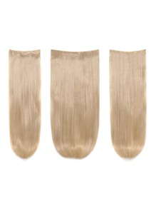 Champagne Blonde Clip In Straight Hair Extension 3pcs