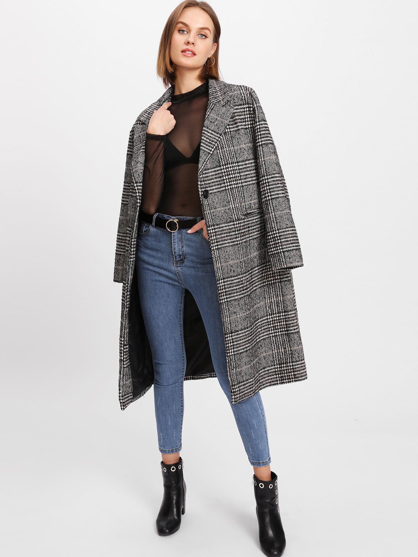 glen-plaid-slit-back-coat by sheinside