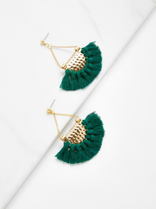 Mini Tassel Drop Earrings 1pair