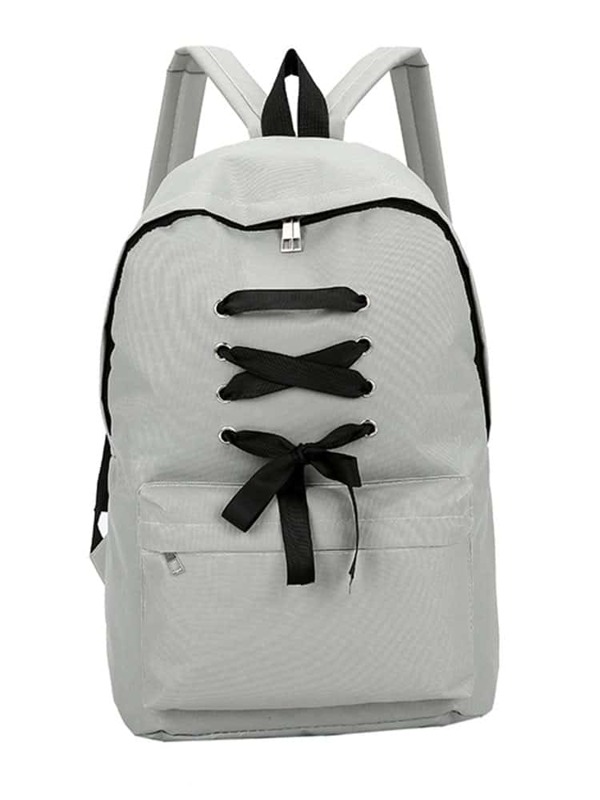 cb63eb80d Criss Cross Zipper Front Backpack | SHEIN UK