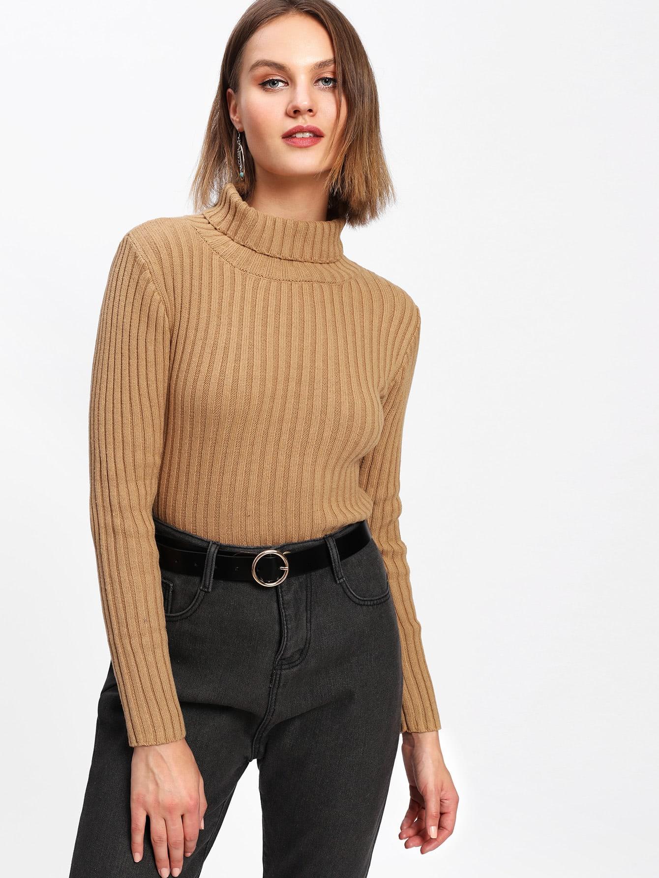 Black Ribbed Knit Drop Shoulder Oversized Sweater   SHEIN USA