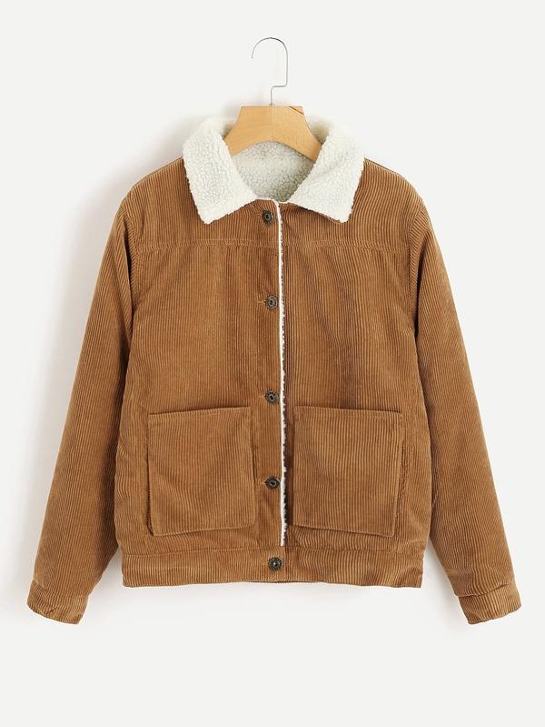 5769655bb Ribbed Corduroy Shearling Jacket