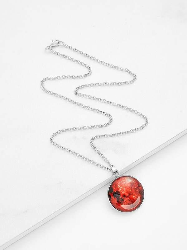 a832f465de Luminous Round Pendant Link Necklace | SHEIN UK