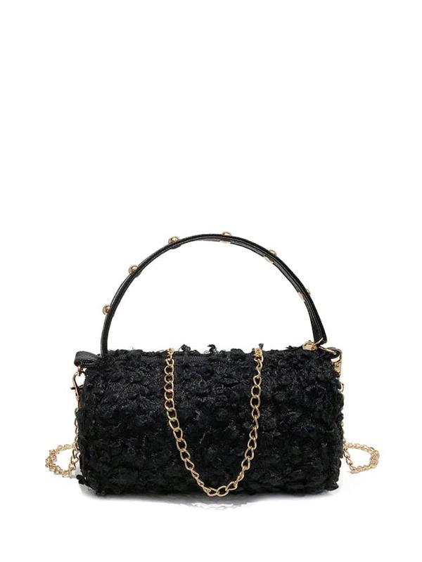 fbfe168bccaa Faux Fur Duffle Shoulder Bag -SheIn(Sheinside)