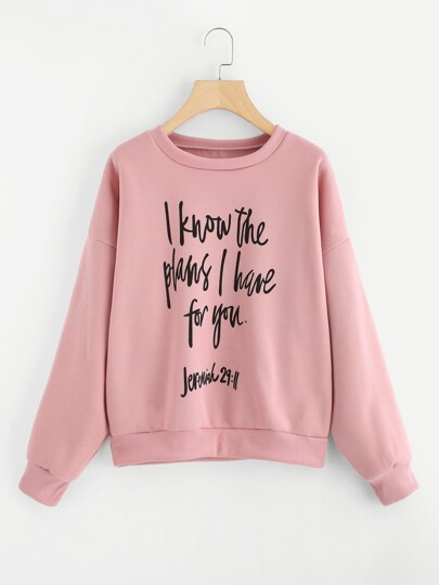 Slogan Graphic Sweatshirt