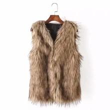 SHEIN   Faux Fur Vest   Goxip