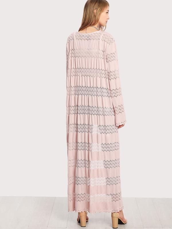 Kimono crochet de encaje -Spanish SheIn(Sheinside)