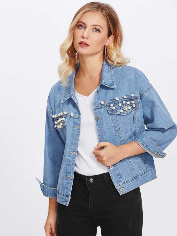 Giacca Di Perle Con Jeans SinteticheShein XuZTOiwPlk