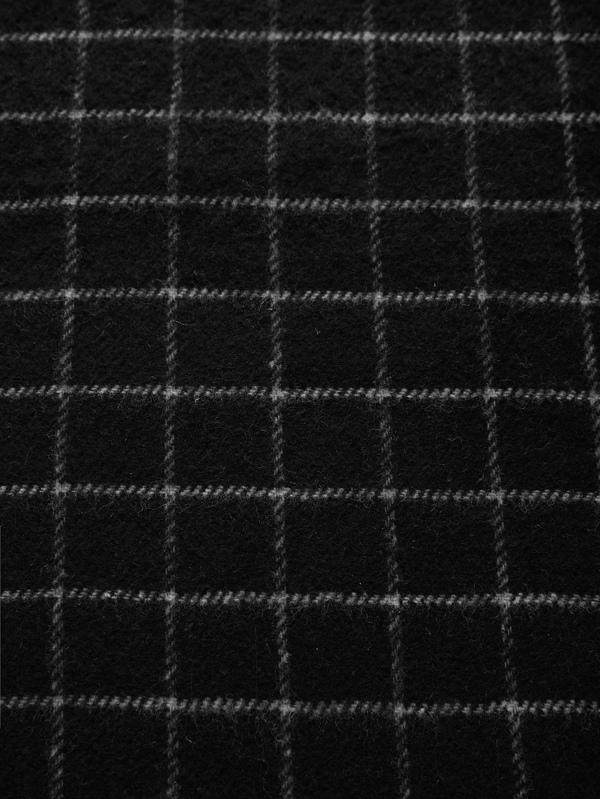 Écharpe à carreaux avec frange -French SheIn(Sheinside) 354e3bf9471
