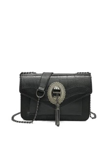 Metal Tassel Flap Bag