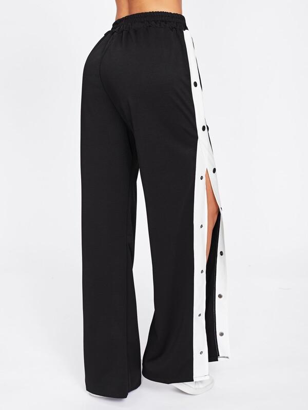 480b5052ce Tape Button Side Wide Leg Pants | SHEIN IN
