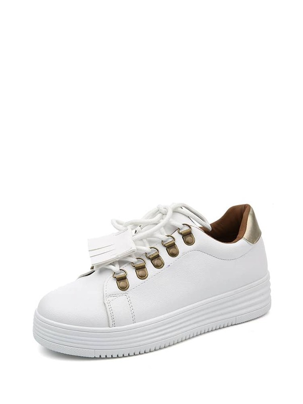 88f953f5a78a Metallic Detail Low Top Sneakers