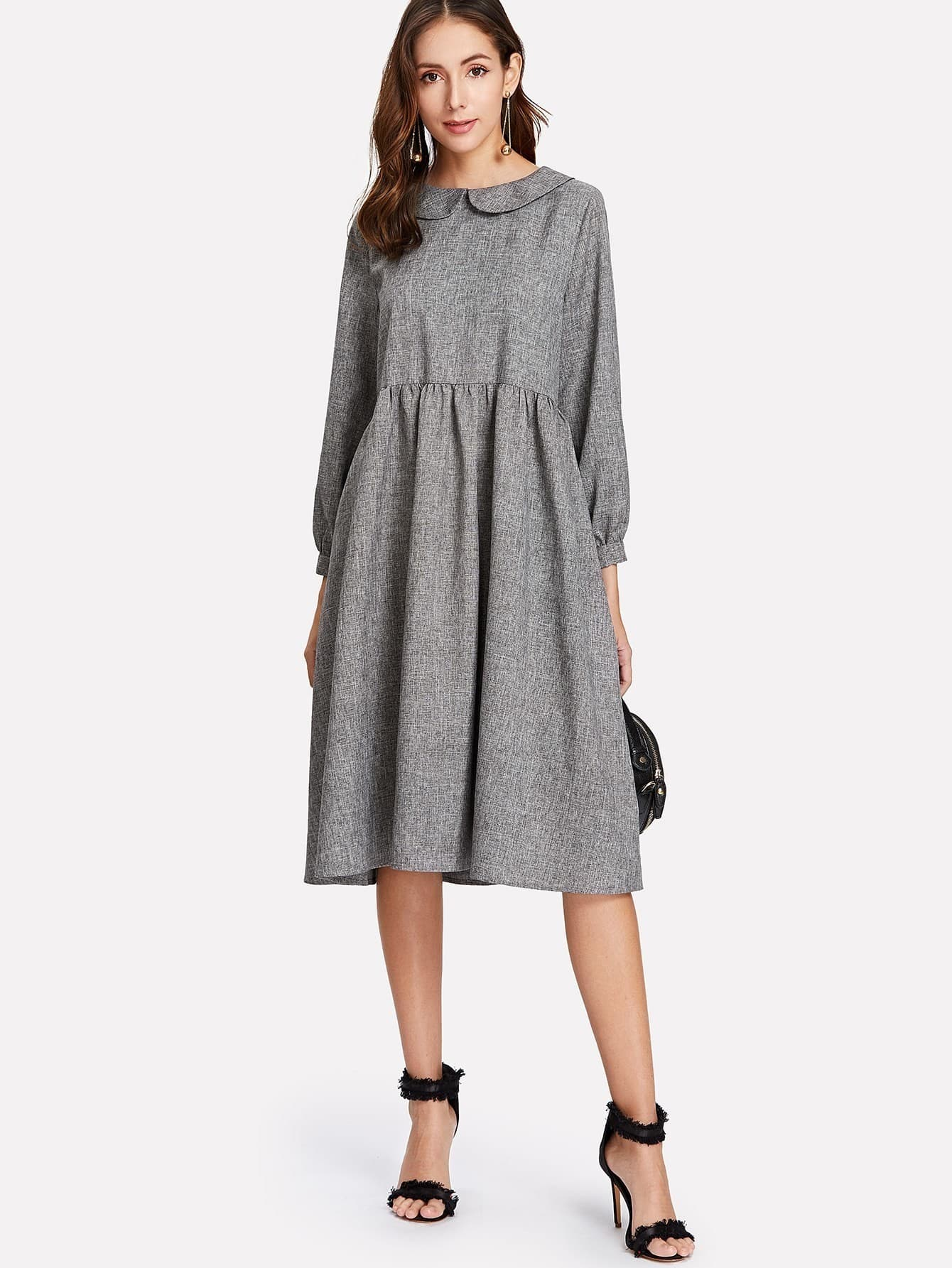 3cd6dd63fe Peter Pan Collar Smock Dress EmmaCloth-Women Fast Fashion Online