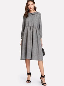 Peter Pan Collar Smock Dress