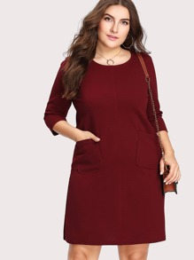dual pocket front dress