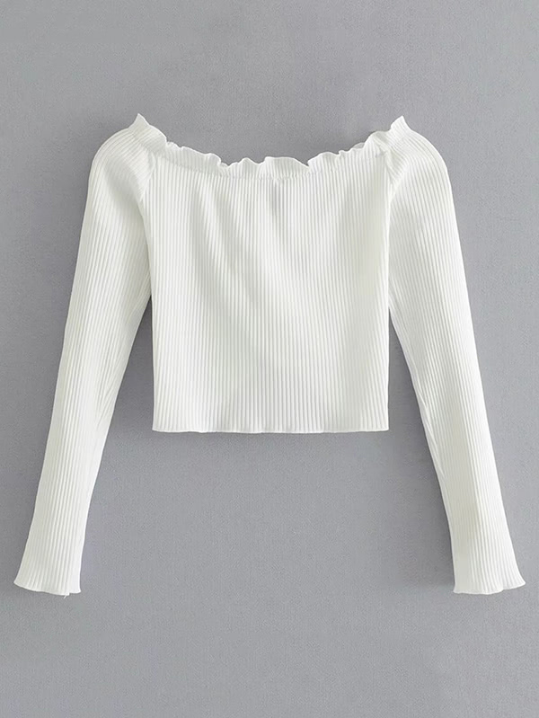 64d691be8c31f Tied Front Ribbed Crop Top
