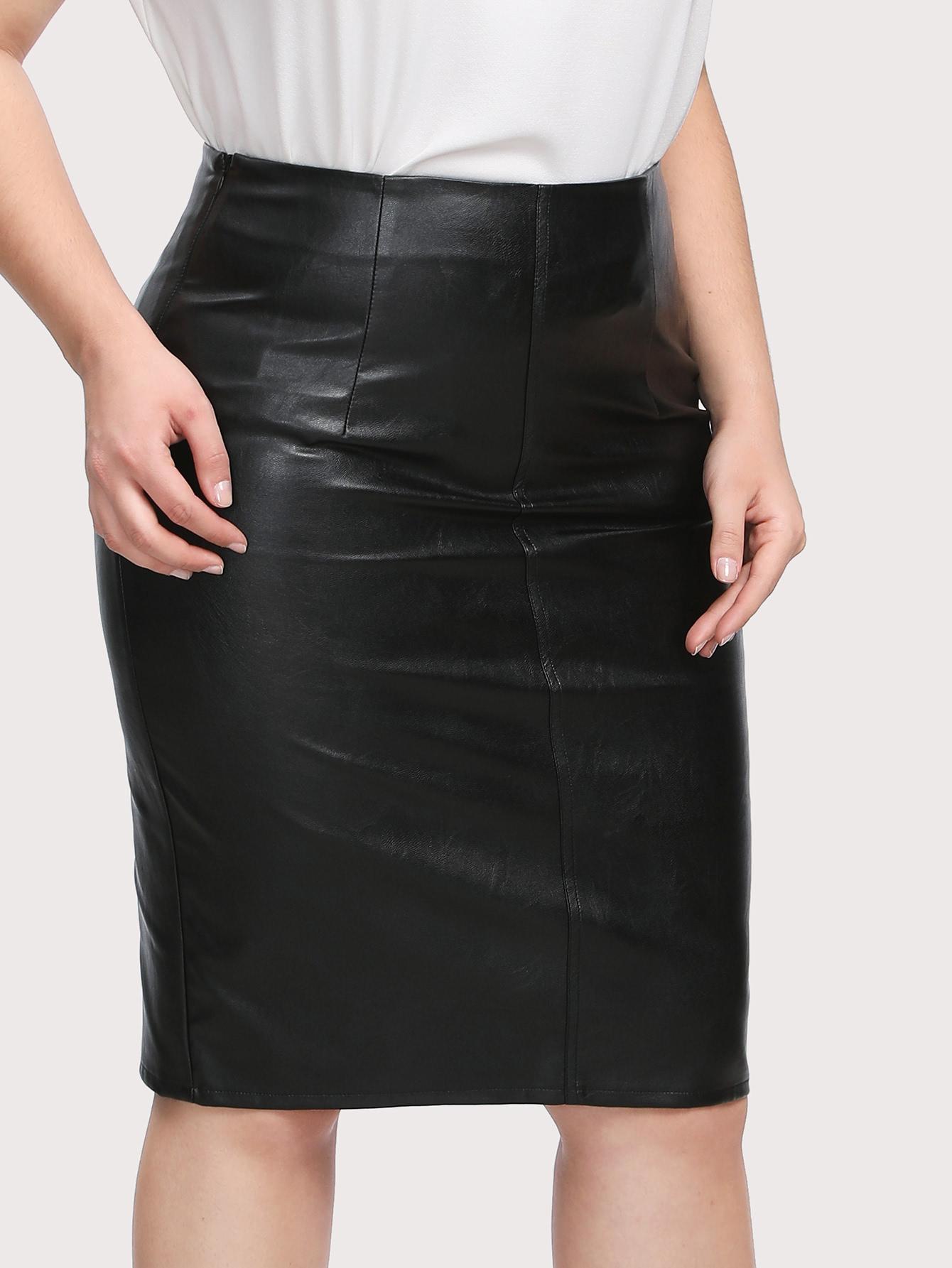 9cece1b4d Cheap Plus Faux Leather Pencil Skirt for sale Australia | SHEIN