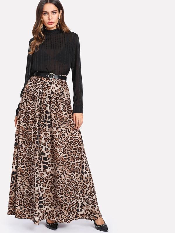 fcd15d1ed Falda larga con leopardo