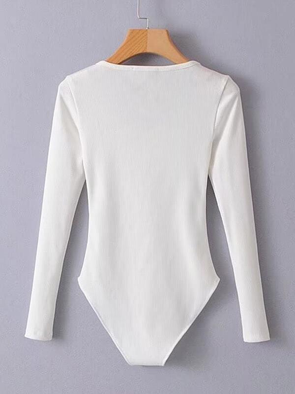 039f25b914 Zip Up Slim Fit Bodysuit