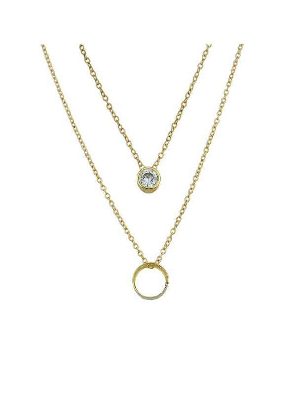 8f0ccf4df3 Gold Simple Pendant Multi-Layer Necklace | SHEIN IN