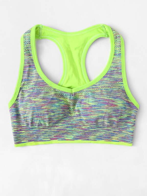 b94f0d36d8668 Racerback Space Dye Sports Bra