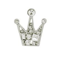 Silver Rhinestone Crown Brooch High Quality Women Accessories
