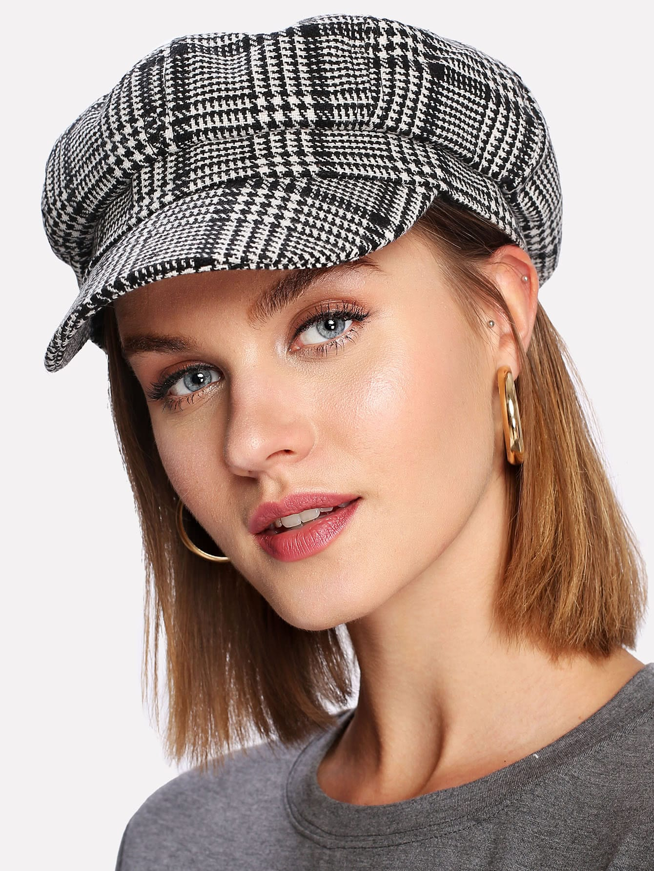 b667e78c3c52d Houndstooth Bakerboy Hat
