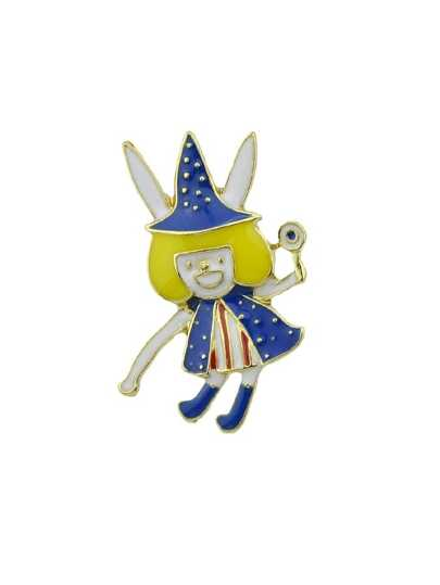 Enamel Cute Cartoon Clown Brooch