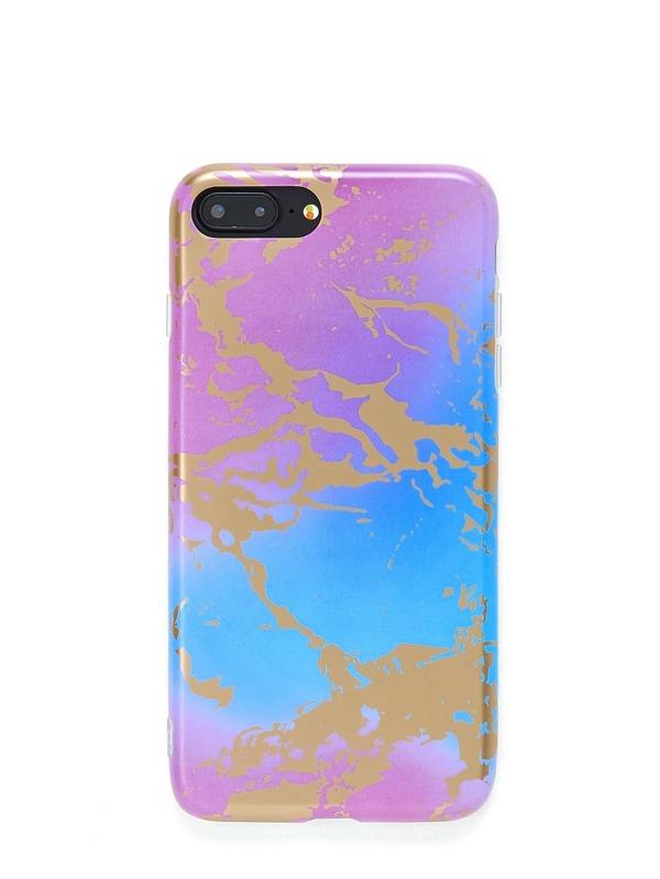 f4b55745cc Marble Print iPhone Case | SHEIN