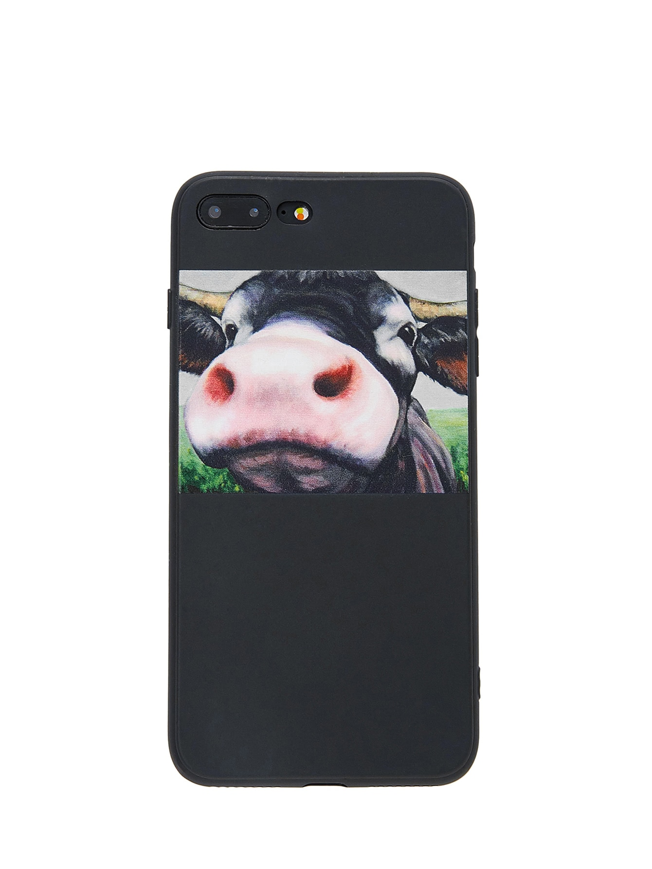 iphone printer case cattle print iphone shein sheinside 5234