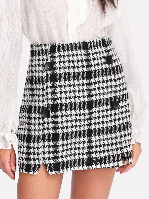 Image result for houndstooth skirt