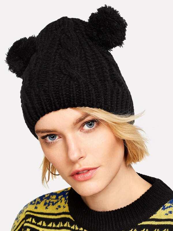 7b224b3f00 Cheap Pom Pom Ear Knit Beanie Hat for sale Australia | SHEIN
