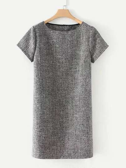 Slit Detail Marled Dress