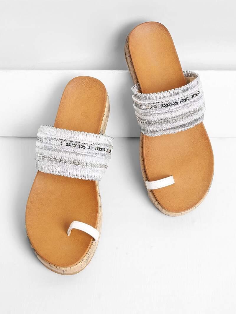 Diseño De Sandalias Con Imitación Aro Diamante Para Dedo Planas cFTJlK1